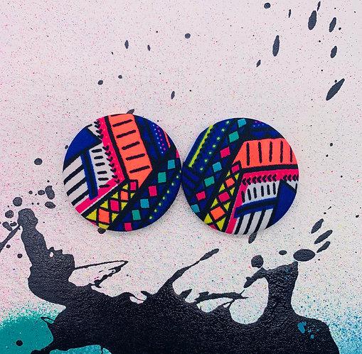 Coachella - Jumbo Textile Earrings