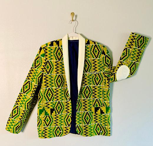African Print Blazer - Size L