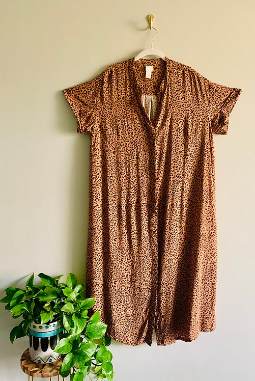 H&M Oversized Leopard Print Dress - Size 12