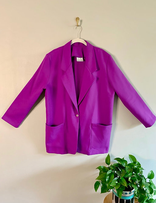 Bend Over Purple Blazer - Size 16