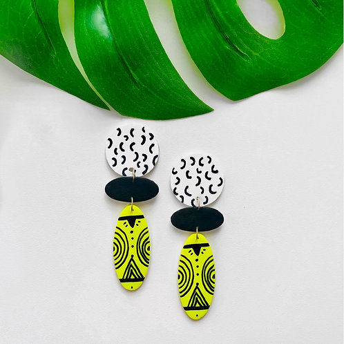 Neon Tribal Earrings