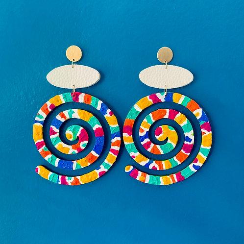 Multicolored Swirl Earrings