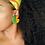 Thumbnail: Harper - Jumbo Textile Earrings