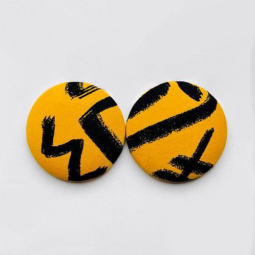 Charlie - Jumbo Textile Earrings
