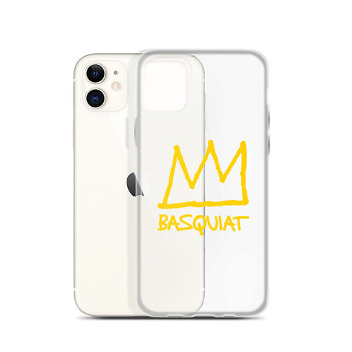 Basquiat Crown Clear iPhone Case