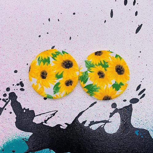 Sunflower - Jumbo Textile Earrings
