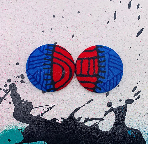 Zuri - Jumbo Textile Earrings