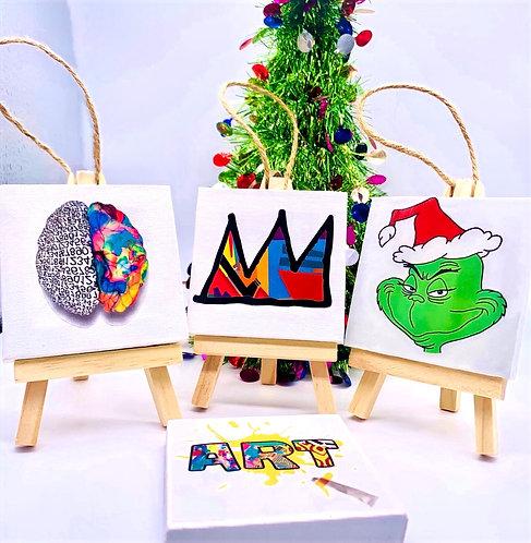 Canvas Art Ornaments