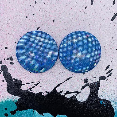 Iridescent - Jumbo Textile Earrings