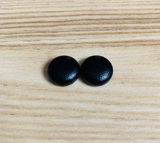 Faux Leather - Tiny Textile Earrings
