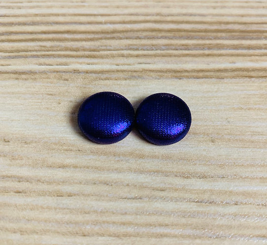 Metallic Purple - Tiny Textile Earrings