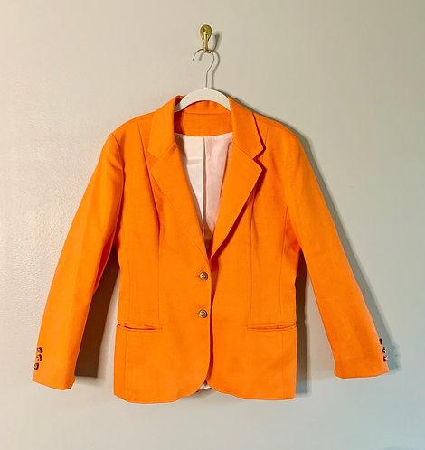 Larry Levine Orange Blazer - Size: M
