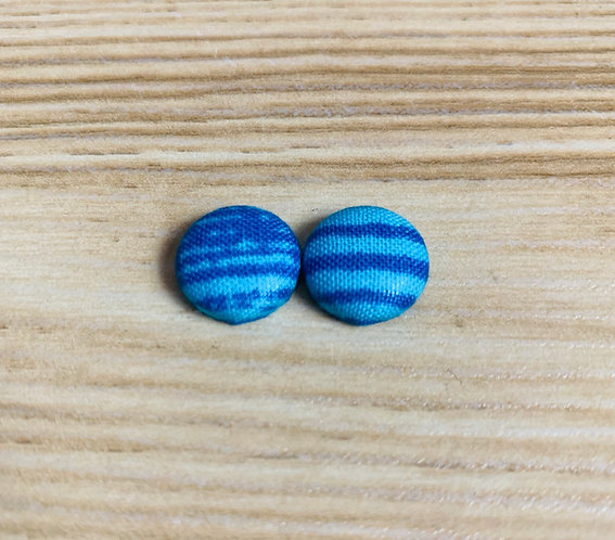 Electric Blue - Tiny Textile Earrings
