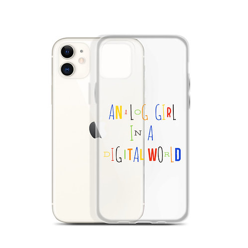 Analog Girl Clear iPhone Case
