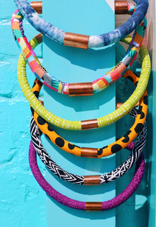 Urban Collars Textile Jewelry- Vibrant Magnetic Collar Necklaces