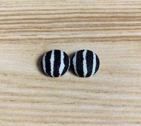 Naomi - Tiny Textile Earrings