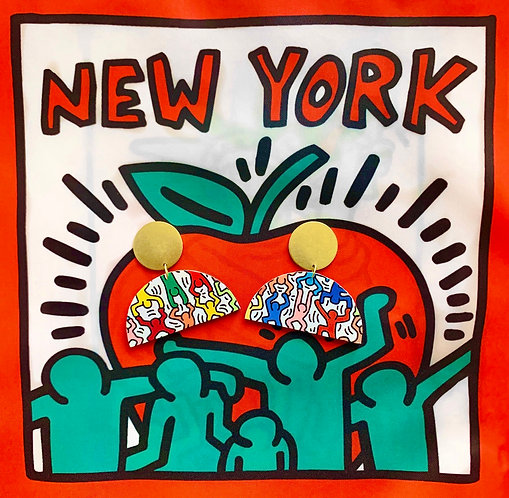 Keith Haring Vibrant People Earrings