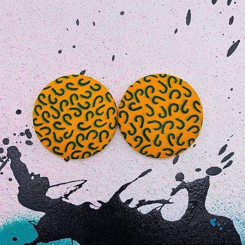Margo - Jumbo Textile Earrings