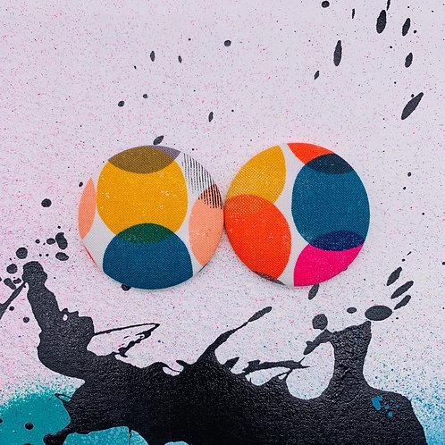 Circles - Jumbo Textile Earrings