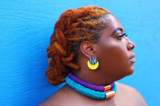 Urban Collars Textile Jewelry - Vibrant Stacked Magnetic Textile Collar Necklaces