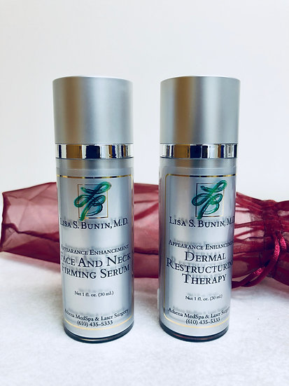 Face and Neck Firming Serum and Dermal Restructure Therapy (1 oz. each)