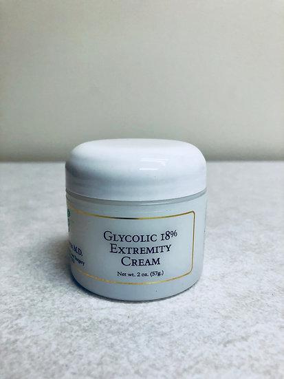 Glycolic 18% Extremity Cream (2 oz.)