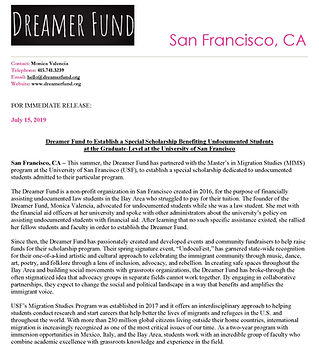 Dreamer Fund & MIMS - Press Release_Page