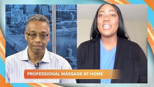 WCPO-Cincylifestyle interview demonstrating professional massage at home managing your stress