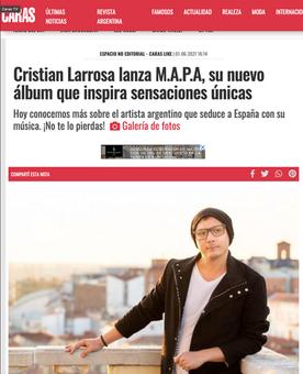 Cristian Larrosa - Revista Caras