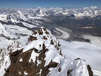 Tournage au Pic Dufour, 4634m