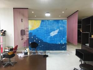 wall art@美容室ESTMODE