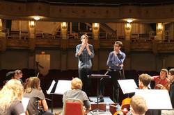 Guest speaking with the orchestra