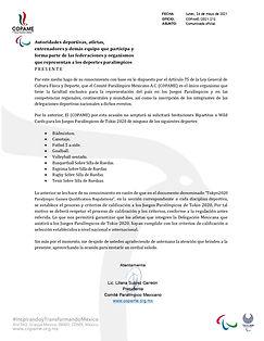 COMUNICADO OFICIAL COPAME criterios de c