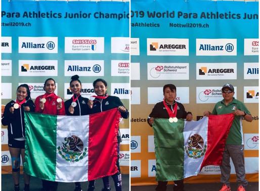 Mexicanos se cuelgan más medallas en el Campeonato Mundial de Para Atletismo Juvenil