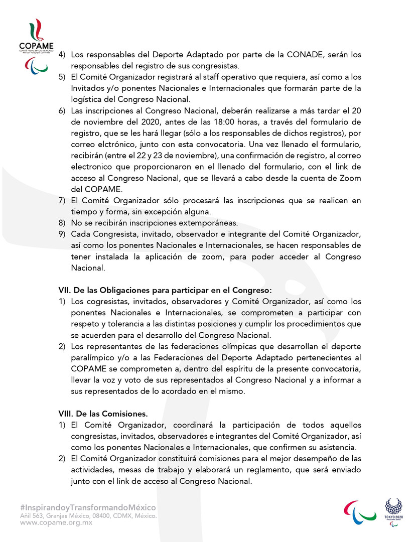 CONVOCATORIA CONGRESO NACIONAL COPAME 20
