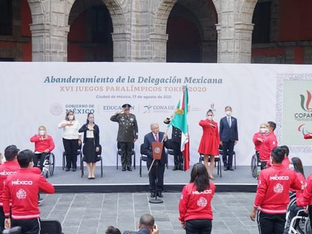 CEREMONIA DE ABANDERAMIENTO DE LA DELEGACIÓN MEXICANA