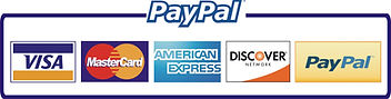 Pay with PayPal and all major credit cards