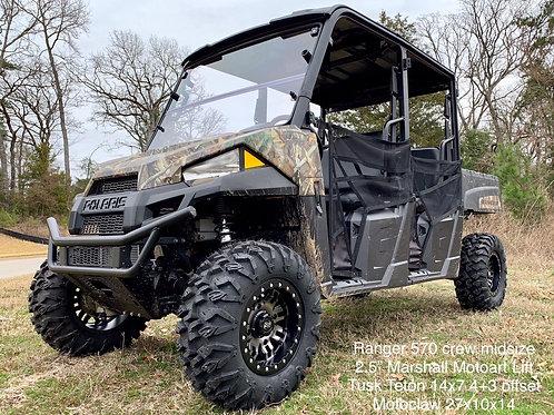 Polaris Ranger with Marshall Motoart, MMA, Lift Kit installed