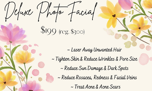 Mothers Day deluxe photo facial special