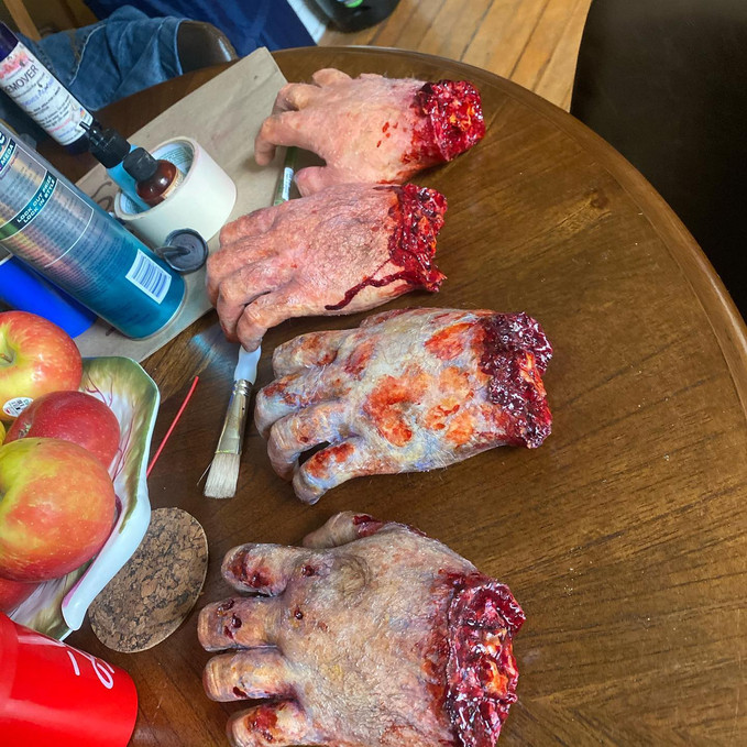 Severed Hand props 2020