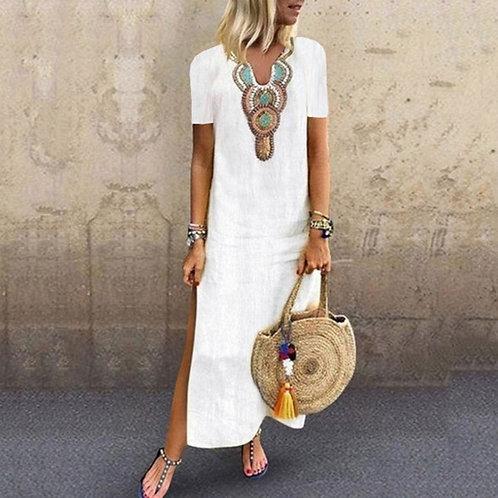 Summer Long Sleeve Beach Dress