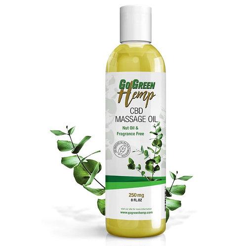 GoGreen Hemp CBD Massage Oil 250mg