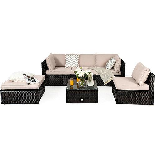 Outdoor Patio Rattan Furniture 6PC Set
