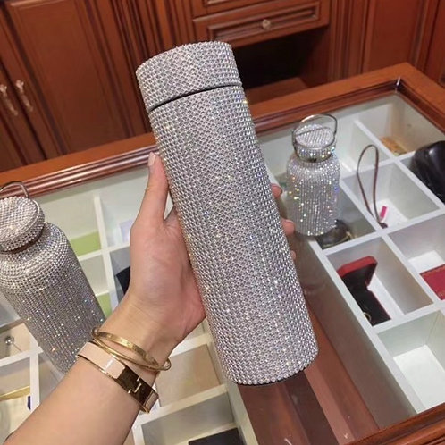 500ml Creative Diamond Thermos Bottle Water Bottle Stainless Steel