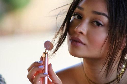 Rose Quartz Vibrating Facial Massager