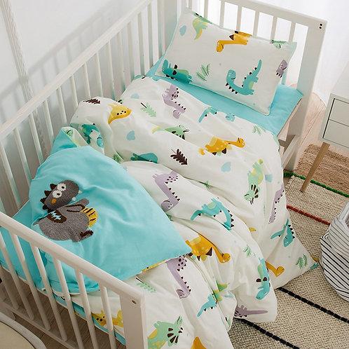 Cotton 3 Pcs Bedding Set Including Duvet Cover Pad Cover Pillowcase