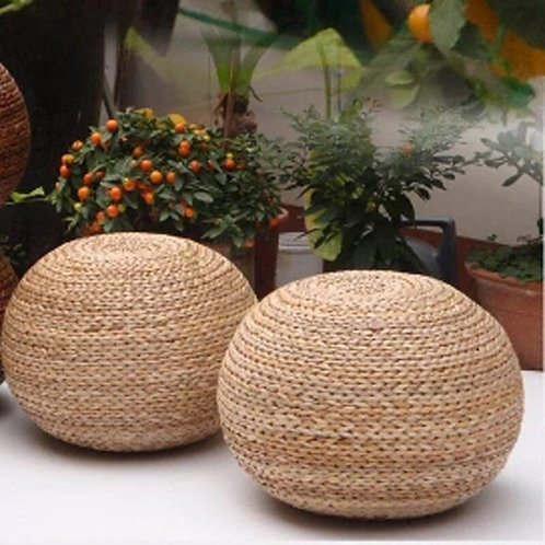 Pure Natural Rattan Pouf Chair