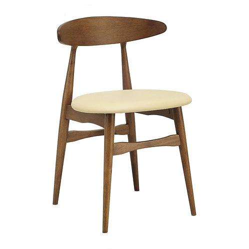 Telyn Dining Chair - Cocoa & Cream