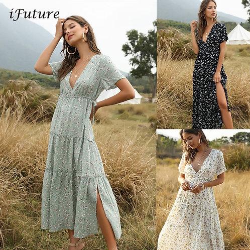 2020 Summer Beach Holiday Dress Women