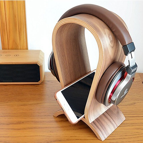 Carbon Wooden Headphone Stand